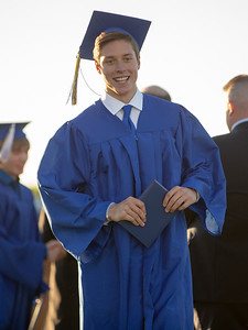 Brody Frazier receives his diploma Friday, June 1, 2018 in Johnsburg. KKoontz – For Shaw Media
