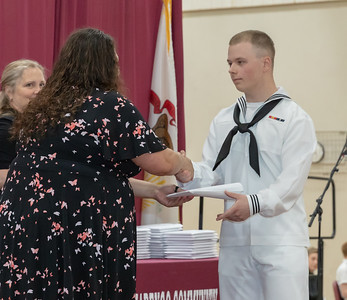 Matt Karczewski receives his diploma Sunday, June 3, 2018 at the 2018 Marengo High School graduation ceremony in Marengo. KKoontz – For Shaw Media