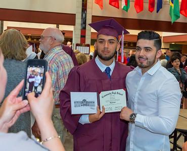 Bryan Zuniga poses for a photo following the 2018 Marengo High School graduation ceremony in Marengo. KKoontz – For Shaw Media