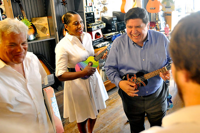 Pritzker Campaigning Crystal Lake