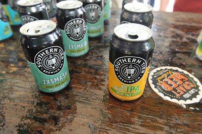 Candace H. Johnson-For Shaw Media Southern Tier Brewing Co. India Pale Ales were on hand for people to sample during the 6th Annual Grayslake Craft Beer Festival in downtown Grayslake.(6/2/18)