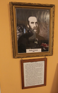 Candace H. Johnson-For Shaw Media A portrait of Walter S. Gurnee hangs on the wall at the Mother Rudd House in Gurnee. (6/11/18)