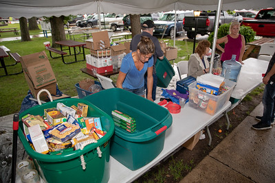 Free tickets were given out in exchange for food items in $1.6 million Queen of Hearts drawing Tuesday, June 26, 2018 at the VFW in McHenry. Over 8,000 items were collected with the majority being donated to the TLS Veterans organization.  KKoontz – For Shaw Media