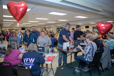 Hundreds of area residents turned out for the $1.6 million Queen of Hearts drawing Tuesday, June 26, 2018 at the VFW in McHenry. There wasn't a jackpot winner this week and the jackpot will increase next week as the nine of hearts was selected. KKoontz – For Shaw Media