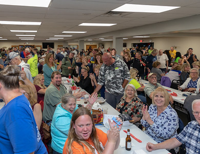 Hundreds of area residents celebrated Tuesday, June 26, 2018 at the VFW in McHenry as this week's $1.6 million Queen of Hearts drawing jackpot wasn't won. Next week's drawing is expected to reach $1.8 million. KKoontz – For Shaw Media