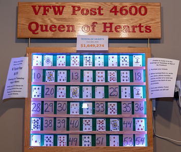 The jackpot will continue to grow as the winning card wasn't selected in the $1.6 million Queen of Hearts drawing Tuesday, June 26, 2018 at the VFW in McHenry.  KKoontz – For Shaw Media