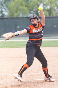 McHenry's AlyssaKate Pearson took the mound against Huntley in the Class 4A Hampshire Sectional Championship game Saturday, June 1, 2019 in Hampshire. Huntley gets the 4-3 win and advances to the Super-Sectionals. KKoontz – For Shaw Media
