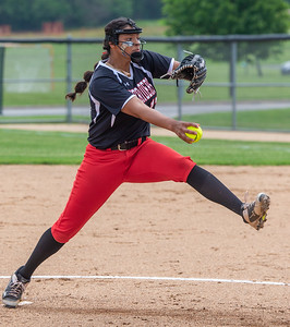 Huntley's Briana Bower took the mound against McHenry in the Class 4A Hampshire Sectional Championship game Saturday, June 1, 2019 in Hampshire. Huntley gets the 4-3 win and advances to the Super-Sectionals. KKoontz – For Shaw Media