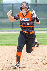 Jocelyn Currie celebrates around the bases after hitting a homerun in the bottom of the first to give McHenry a 1-0 against Huntley in the Class 4A Hampshire Sectional Championship game Saturday, June 1, 2019 in Hampshire. Huntley battled back and in the bottom of the seventh scored the game winning run to win 4-3 and will advance to the Super-Sectionals. KKoontz – For Shaw Media