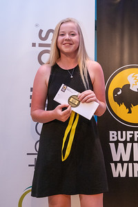 Molly Lyne from Crystal Lake co-op poses for a photo after winning the Northwest Herald's Female Golfer of the year award at the 2019 McHenry County Most Valuable Athletes Awards ceremony Wednesday, June 5, 2019 at McHenry County College in Crystal Lake. KKoontz- for Shaw Media
