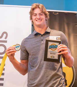 Cary-Grove's Quinn Priester poses for a photo after being selected as the 2019 Male Athlete of the Year at the 2019 Northwest Herald McHenry County Most Valuable Athletes Awards ceremony Wednesday, June 5, 2019 at McHenry County College in Crystal Lake. KKoontz- for Shaw Media