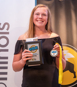 Richmond-Burton's Hannah Ritter poses for a photo after being selected as the 2019 Female Athlete of the Year at the 2019 Northwest Herald McHenry County Most Valuable Athletes Awards ceremony Wednesday, June 5, 2019 at McHenry County College in Crystal Lake. KKoontz- for Shaw Media