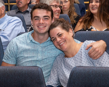 Marengo's Finn Schirmer and his mother Allison attend the 2019 McHenry County Most Valuable Athletes Awards ceremony Wednesday, June 5, 2019 at McHenry County College in Crystal Lake. KKoontz- for Shaw Media
