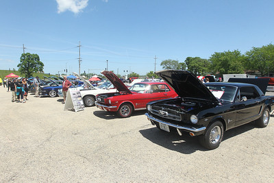 Candace H. Johnson-For Shaw Media A row of Ford Mustangs in different colors could be seen during the Lambs Farm Champion Car Show in Libertyville. (6/2/19)