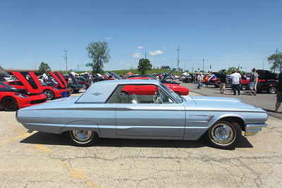 Candace H. Johnson-For Shaw Media A 1965 Thunderbird owned by Chuck Nozicka, of Libertyville was on display during the Lambs Farm Champion Car Show in Libertyville. (6/2/19)
