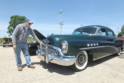 Candace H. Johnson-For Shaw Media Dave Plahuta, of Antioch talks about the massive chrome he likes in front of his 1953 Buick Roadmaster during the Lambs Farm Champion Car Show in Libertyville. (6/2/19)