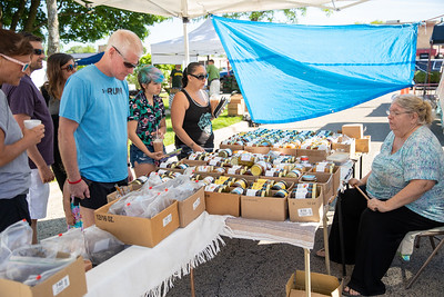 "Customers lined up for the ""Jam Lady"" at the Downtown Crystal Lake Farmers Market Saturday, June 8, 2019 in Crystal Lake.  KKoontz – For Shaw Media"