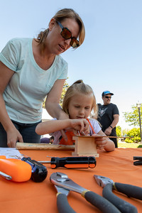 Michelle Panek and daughter Charlee (age 4) spent time together working on a Home Depot project during the Downtown Crystal Lake Farmers Market Saturday, June 8, 2019 in Crystal Lake.  KKoontz – For Shaw Media