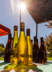 Different flavors of olive oil from the Olive Tap in Crystal Lake were available for sampling and purchase at the Downtown Crystal Lake Farmers Market Saturday, June 8, 2019 in Crystal Lake.  KKoontz – For Shaw Media