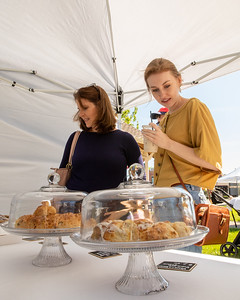 Morgan (right) and Mary Jo shop for fresh baked goods at Carly's Confections during the Downtown Crystal Lake Farmers Market Saturday, June 8, 2019 in Crystal Lake.  KKoontz – For Shaw Media