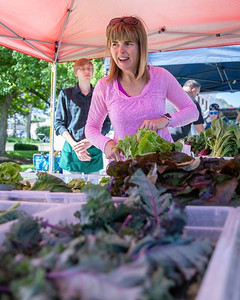 Michelle Cereghino from Crystal Lake shops for fresh vegetables at the Downtown Crystal Lake Farmers Market Saturday, June 8, 2019 in Crystal Lake.  KKoontz – For Shaw Media