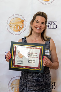 Amy Bieri from Happy Tails Ranch in Island Lake poses for a photo at the 2019 Best of the Fox Award celebration Thursday, June 13, 2019 in Crystal Lake. KKoontz – For Shaw Media