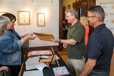Mike Gulgren and Greg Danielson from Gulgren Appliance in Crystal Lake pick up their 2019 Best of the Fox Award Thursday, June 13, 2019 in Crystal Lake. KKoontz – For Shaw Media