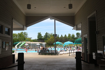 Candace H. Johnson-For Shaw Media The entrance to the Hunt Club Park Aquatic Center in Gurnee. (6/8/19)