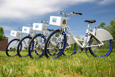 McHenry County, along with Zagster, launched its new county wide bike share program Friday, June 14, 2019 at the McHenry Recreation Center in McHenry.  KKoontz- For Shaw Media
