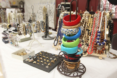 Candace H. Johnson-For Shaw Media Donated jewelry is all laid out and ready for customers to buy in the French Room for the Our Lady of the Lakes St. Bede Rummage Sale at the St. Bede School in Ingleside. The rummage sale is open June 20-22nd, Thursday and Friday, 9-7 p.m. and Saturday, 9-2 p.m. (6/16/19)