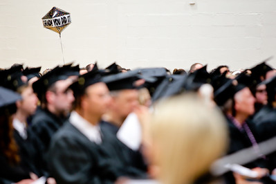 Michelle LaVigne/ For Shaw Media A balloon hovers above the incoming graduates during Spring Commencement at McHenry County College in Crystal Lake on Saturday, May 16, 2015.