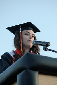 Michelle LaVigne/ For Shaw Media Class president Rebecca Lameka delivers her speech during the McHenry High School-East Campus Commencement in McHenry on Thursday, May 21, 2015.