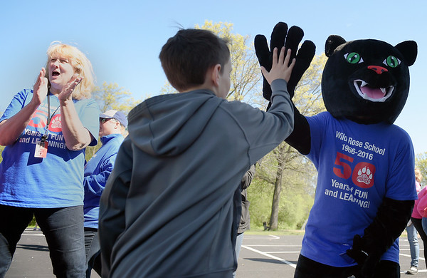 Wild Rose Elementary School unveiled a panther as its new school mascot May 6 during the school's 50th anniversary celebration. The school will hold a contest to name the mascot.