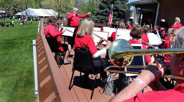 The Batavia Community Band performs during the Loyalty Day Picnic at the Batavia VFW May 7.