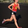 Batavia's Alexa Andrews runs in the 3200 run on May 11 th at Bartlett's class 3A Girl's sectional in Streamwood.