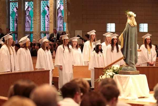 The Rosary High School commencement ceremony was held at St. Peter Catholic Church in Geneva May 17.