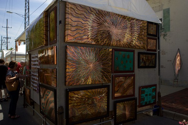 Copper metal art by Adam Weiss on May 27 at the St. Charles Fine Arts Festival in St. Charles.