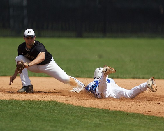 St. Charles North's Christian Erickson steals second base against Glenbard North on May 27 at the Class 4A Regional Championship game in St. Charles.