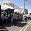 The streets are filled with art goers on May 27 at the St. Charles Fine Arts Festival in St. Charles.