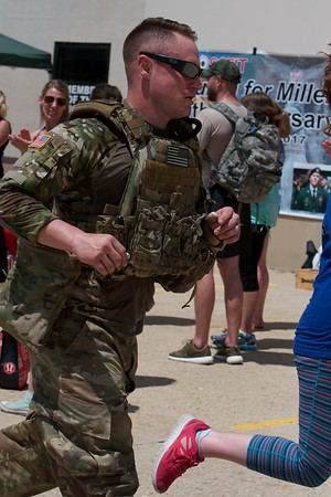 Michael Cates from Villa Park on a 1 mile run on May 27 at CrossFit Tri-Cities during the 10th Annual Murph for Miller in St. Charles.