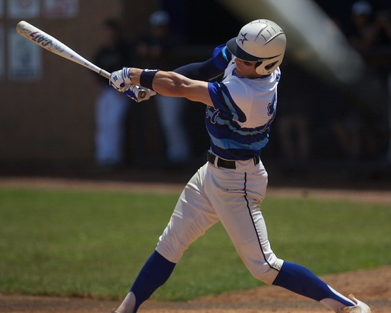 St. Charles North's Sam Faith connects for a hit against Glenbard North on May 27 at the Class 4A Regional Championship game in St. Charles.