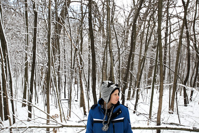 Jenny Kane - jkane@shawmedia.com Kyle Ochwat, 8, waits for his tour group to catch up to him at the Coral Woods Conservation Area during the McHenry County Conservation District's annual Festival of the Sugar Maples in Marengo.