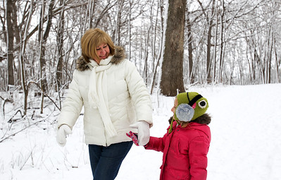 Jenny Kane - jkane@shawmedia.com Rita Dubas holds on to her granddaughter Avery Ochwat's hand during a tour at the Festival of the Sugar Maples at the Coral Woods Conservation Area in Marengo.