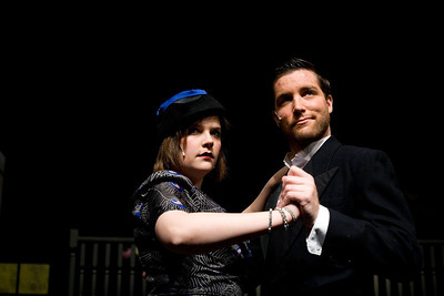 Jenny Kane - jkane@shawmedia.com Mrs. Peacock played by Jackie McNamara dances with Mr. Boddy played by Nick Bailey during the GreenRoom Productions dress rehearsal of Clue the Musical at the Cosman Center in Huntley.
