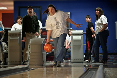 Daniel J. Murphy - dmurphy@shawmedia.com  Karen Combs of Carpentersville bowls at the annual Bowl for Kids Sake fundraiser for Big Brothers Big Sister of McHenry County Sunday March 4, 2012 at the Brunswick Zone in Algonquin.