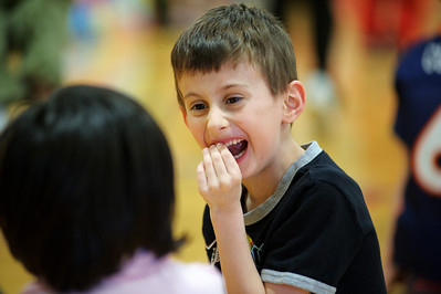 Daniel J. Murphy - dmurphy@shawmedia.com  Camden Lima, 7, of Huntley wiggles his baby tooth during the American Heart Association's annual Jump Rope for Heart Wednesday March 7, 2012 at Chesak Elementary School in Lake in the Hills.