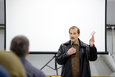 Daniel J. Murphy - dmurphy@shawmedia.com  Jeff Skiles speaks to a small crowd at a free event Saturday March 10, 2012 at Galt Airport in Wonder Lake, IL. Jeff Skiles was the captain on US Airways flight 1549 when it landed on the Hudson River back in 2009. Skiles is now EAA's new Vice President of Chapters and Youth Education.