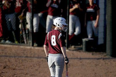 Sarah Nader - snader@shawmedia.com Marengo's Ashley Borhart gets ready to bat during Tuesday's season opener against Elmwood Park at Judson University on March 13, 2012. Marengo won, 3-1.
