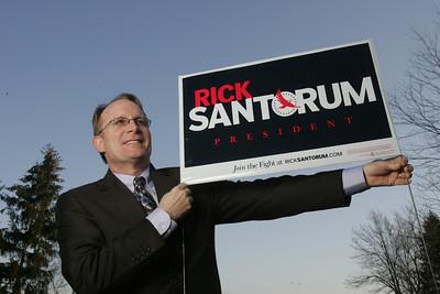 H. Rick Bamman -hbamman@shawmedia.com Al Salvi, delegate candidate for GOP Presidential Rick Santorum
