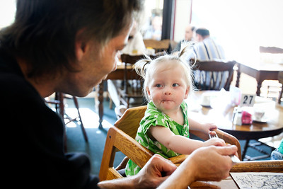Jenny Kane - jkane@shawmedia.com Jason FitzHenry, of McHenry, feeds his daughter Tala, 1, lunch at Windhill Pancake Parlor in McHenry. The parlor has been open in McHenry since 1976. FitzHenry has been coming to the restaurant with his family for over five years.